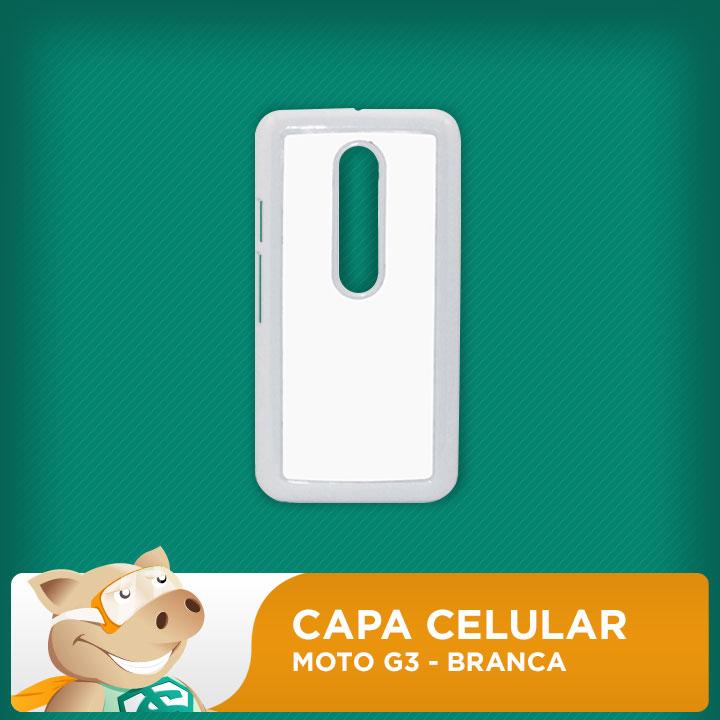 Capa Plástica 2D para Sublimação - Branca Moto G3 - Modelo LP-MG3-P  - ECONOMIZOU