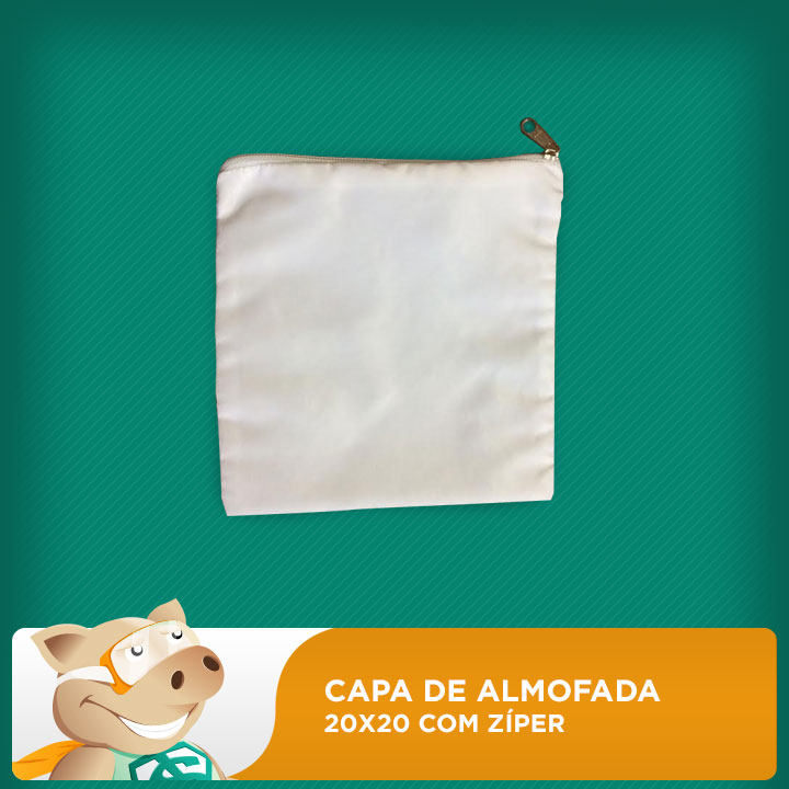 Capa de Almofada ou Necessaire 20x20 Com Zíper  - ECONOMIZOU
