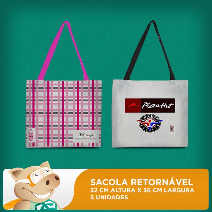 Sacola Retornável 32x36 - Pacote com 5 unidades  - ECONOMIZOU