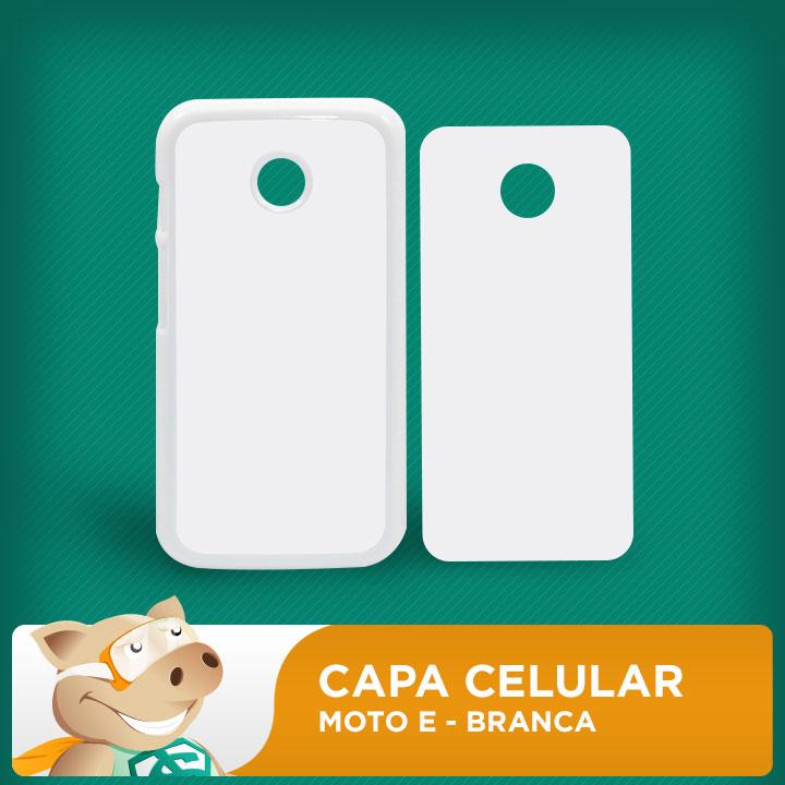 Capa Plástica 2D para Sublimação - Branca - Moto E  - ECONOMIZOU