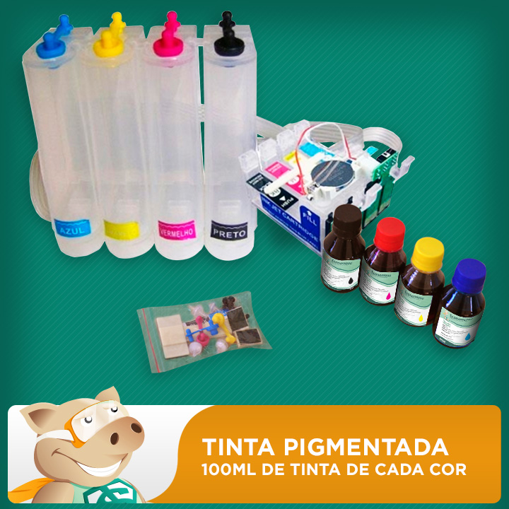 Bulk Ink Epson C63-C65-C83-C85-CX3500-CX4500 Tinta Pigmentada  - ECONOMIZOU