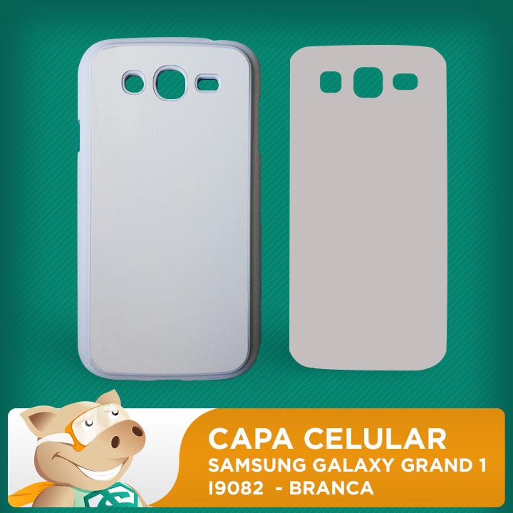 Capa Plástica 2D para Sublimação - Branca - Samsung Galaxy  Grand 1 - I9082  - ECONOMIZOU
