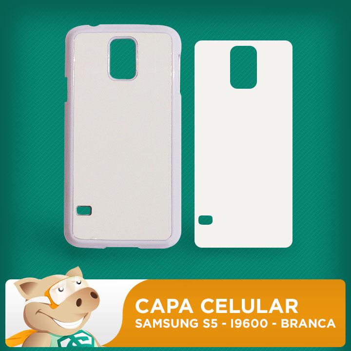 Capa Plástica 2D para Sublimação - Branca -  Samsung S5 - I9600    - ECONOMIZOU
