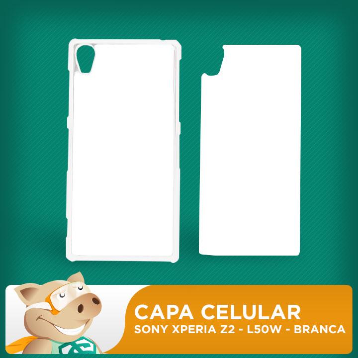 Capa Plástica 2D para Sublimação - Branca -Sony  Xperia Z2 - L50W  - ECONOMIZOU