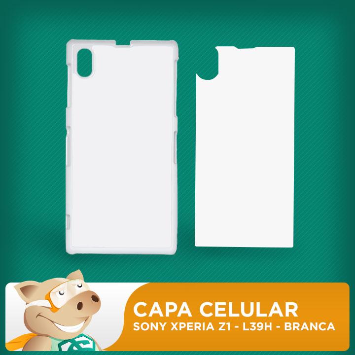 Capa Plástica 2D para Sublimação - Branca -Sony  Xperia Z1 -  L39H  - ECONOMIZOU