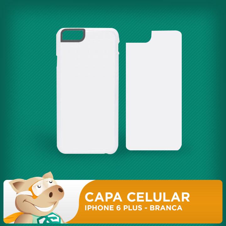 Capa Plástica 2D para Sublimação - Branca - Iphone 6 Plus  - ECONOMIZOU