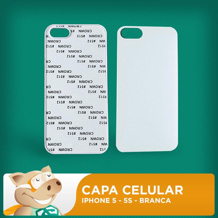 Capa Plástica 2D para Sublimação - Branca - Iphone 5 - 5S  - ECONOMIZOU