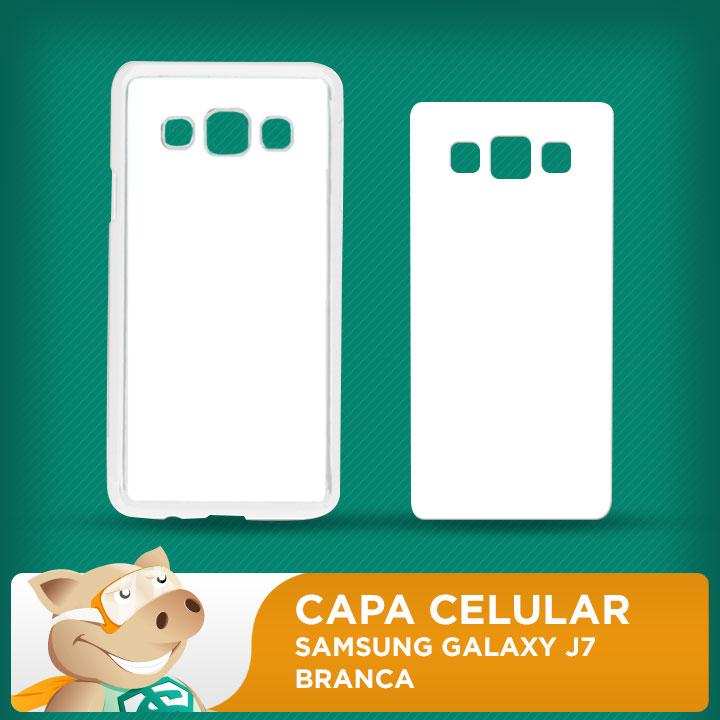 Capa Plástica 2D para Sublimação - Branca - Samsung Galaxy J7  - ECONOMIZOU