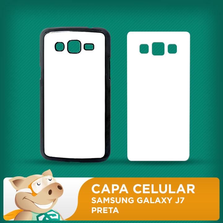 Capa Plástica 2D para Sublimação - Preta - Samsung Galaxy J7  - ECONOMIZOU