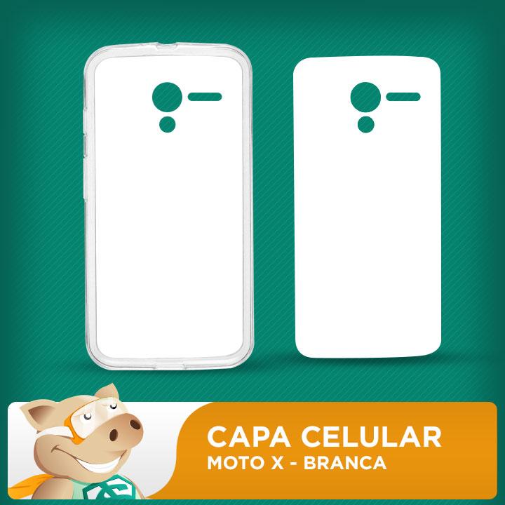 Capa Plástica 2D para Sublimação - Branca - Moto X 1 xt1058  - ECONOMIZOU