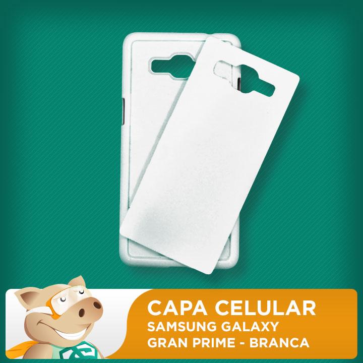 Capa Plástica 2D para Sublimação - Branca - Samsung Grand Prime  - ECONOMIZOU