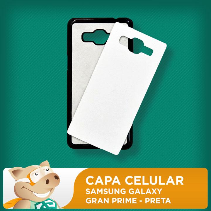 Capa Plástica 2D para Sublimação - Preta - Samsung Grand Prime  - ECONOMIZOU
