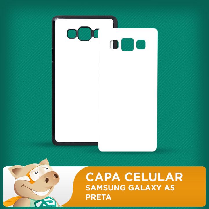 Capa Plástica 2D para Sublimação - Preta - Galaxy A5  - ECONOMIZOU