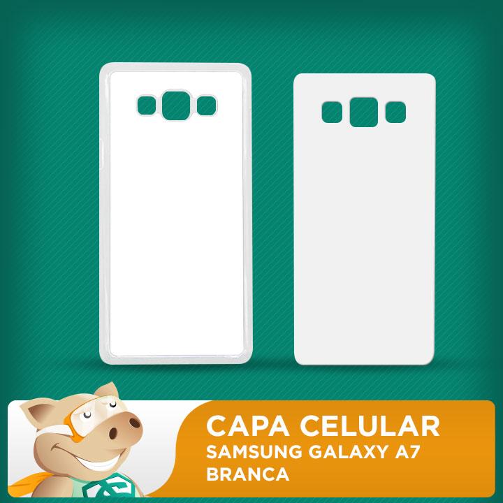 Capa Plástica 2D para Sublimação - Branca - Galaxy A7  - ECONOMIZOU