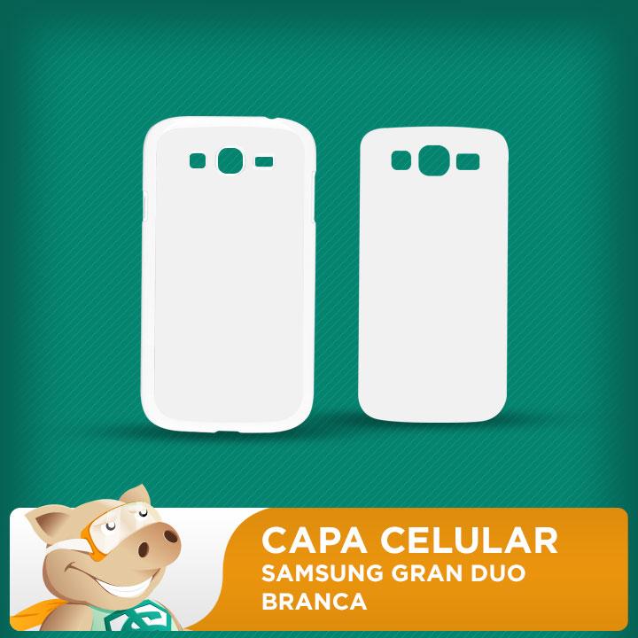 Capa Plástica 2D para Sublimação - Branca - Samsung Grand Duos  - ECONOMIZOU