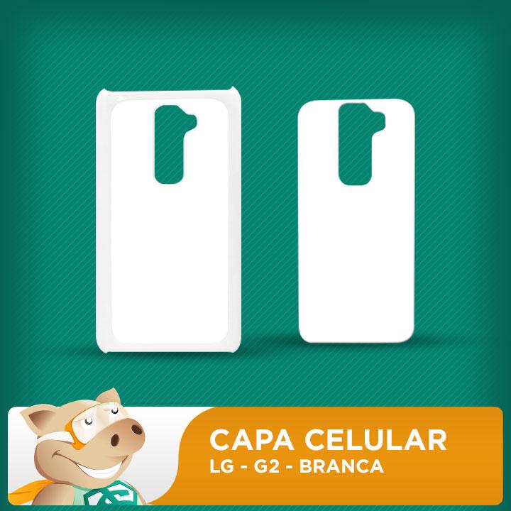 Capa Plástica 2D para Sublimação - Branca - LG G2  - ECONOMIZOU