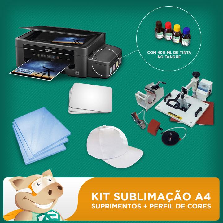 Kit Sublimação A4 Com Prensa 4x1   - ECONOMIZOU