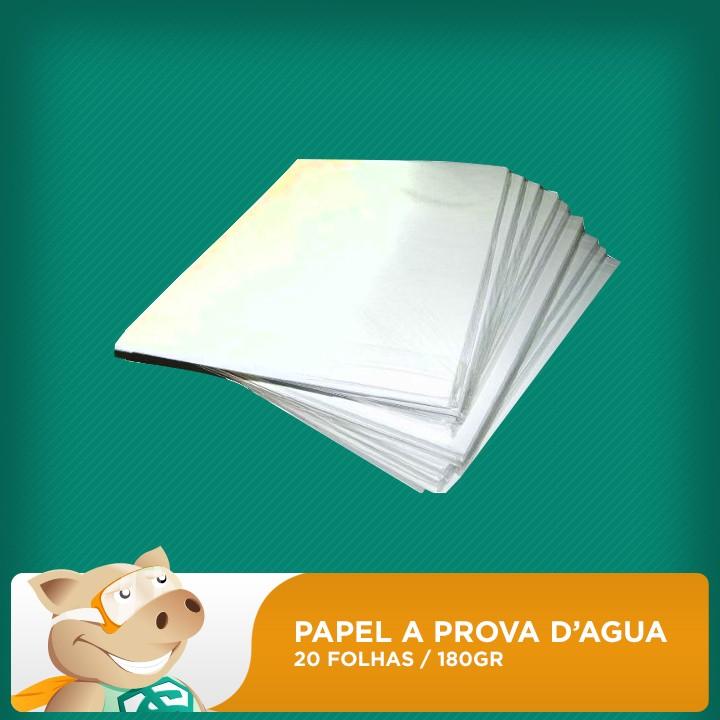 Papel Fotográfico 20 folhas 180gr A4 (Resistente à água)  - ECONOMIZOU
