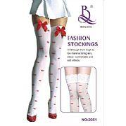 Meia Calça Tamanho Unico Preta/Vermelha  Fashion Stockinqs