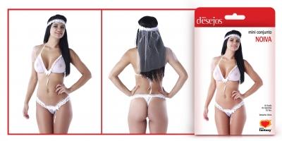 Mini conjunto Noiva Sexy Fantasy  - Mimus Presentes