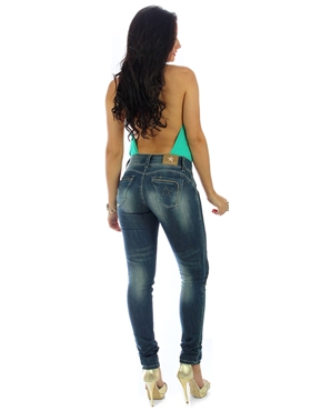 Calça Jeans Det Ziper Planet Girls  - Mimus Presentes