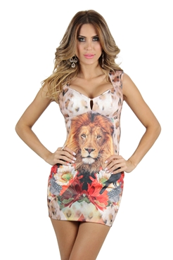 Vestido Leao Planet Girls  - Mimus