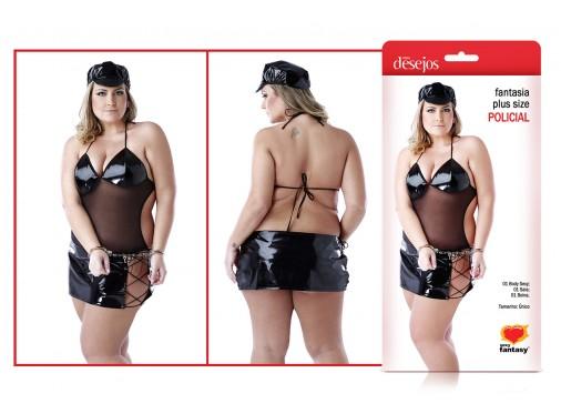 Fantasia  Policial  Plus Size Sexy Fantasy  - Mimus Presentes