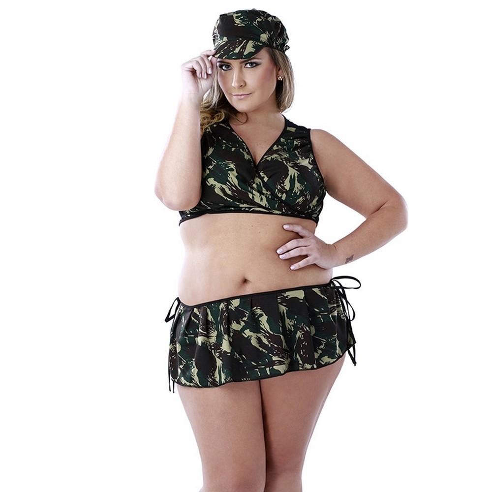 Fantasia Militar  Plus Size Sexy Fantasy