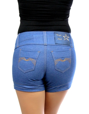 Shorts Spikes Azul Planet Girls - Mimus