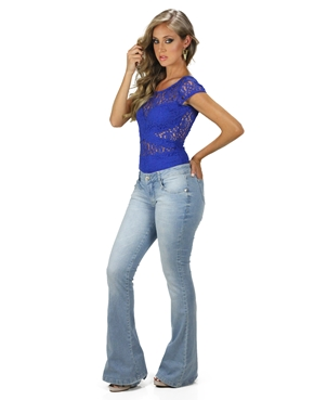 Calça Jeans Flare Planet Girls  - Mimus Presentes