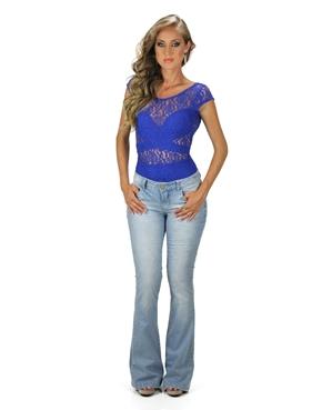 Calça Jeans Flare Planet Girls  - Mimus Sex Shop