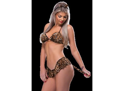 Conjunto  Tigresa Linha Desejos Sexy Fantasy
