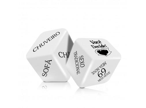 Dado Cubo do Amor Hot Com 2 Unidades