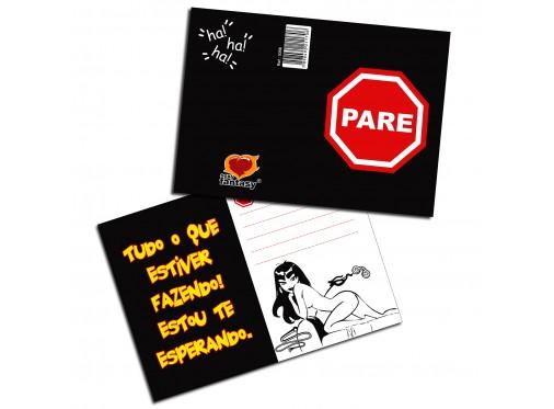 Cartão: Pare  - Mimus Sex Shop