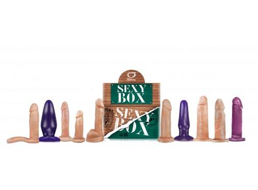Sexy Box Verde - Caixa com 10 Peças Sortidas  - Mimus Presentes
