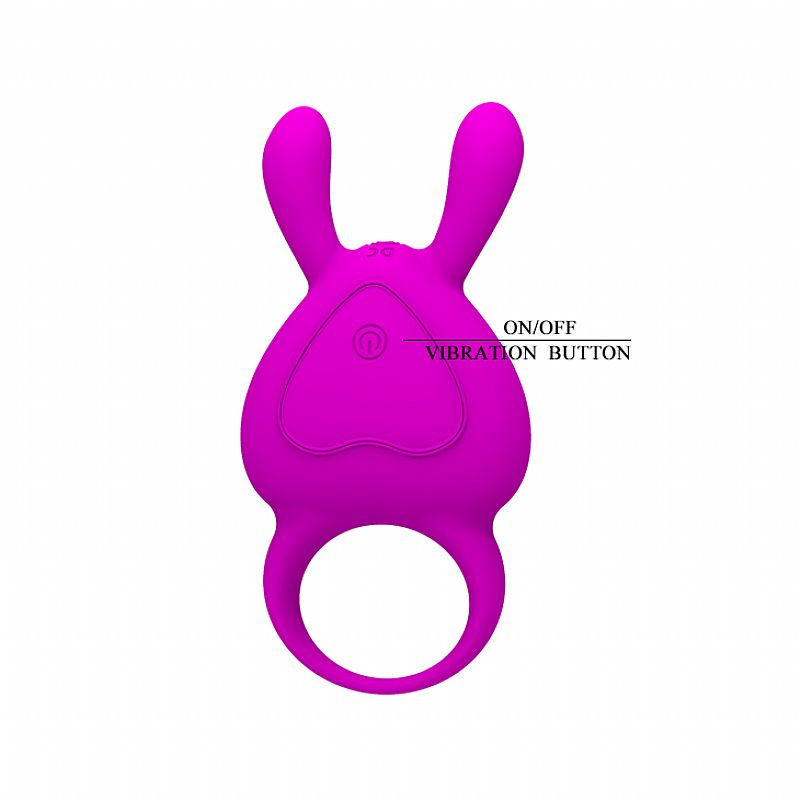 Anel Peniano Vibro Recarregável USB - Naugthy Bunny  - Mimus Presentes