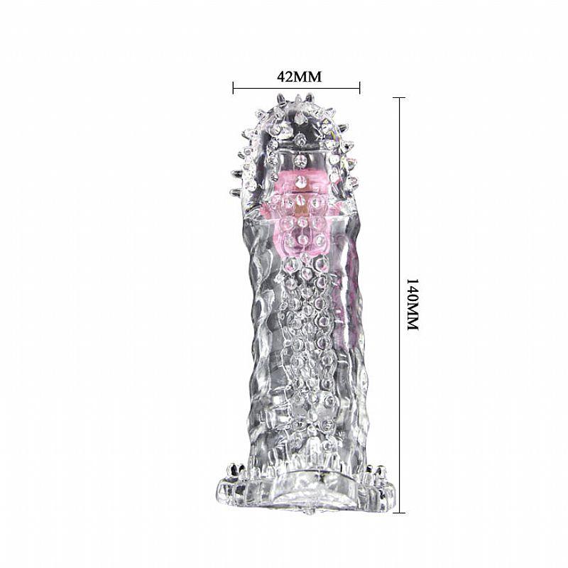Capa Peniana Brave Man com Vibrador de Toque 14 cm  - Mimus Presentes