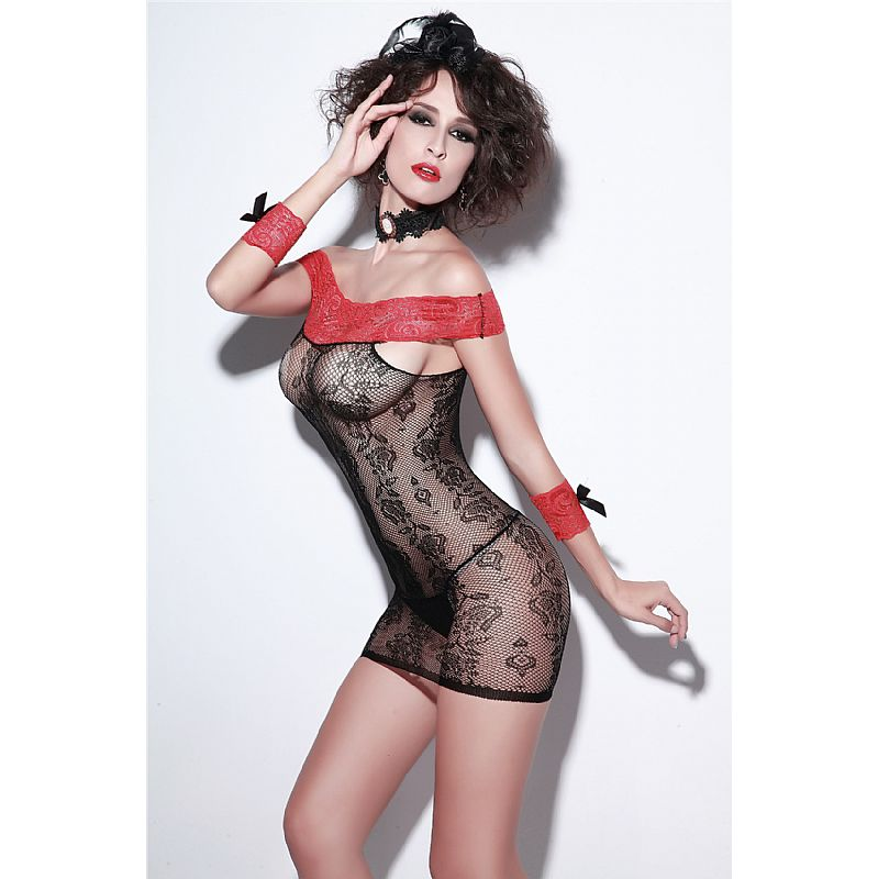 Bodystocking - Vestido Rendado  - Mimus Presentes