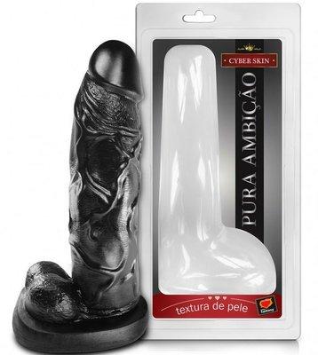 Pênis Black Maciço com Escroto em CyberSkin – 27x6cm |