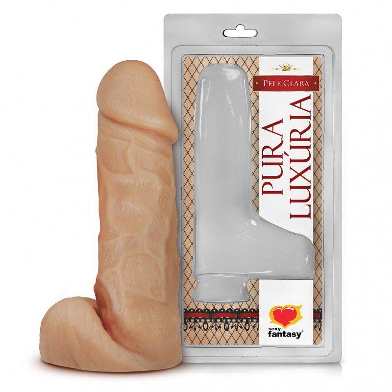 Pênis Realístico com Escroto – 17,5x4,5cm