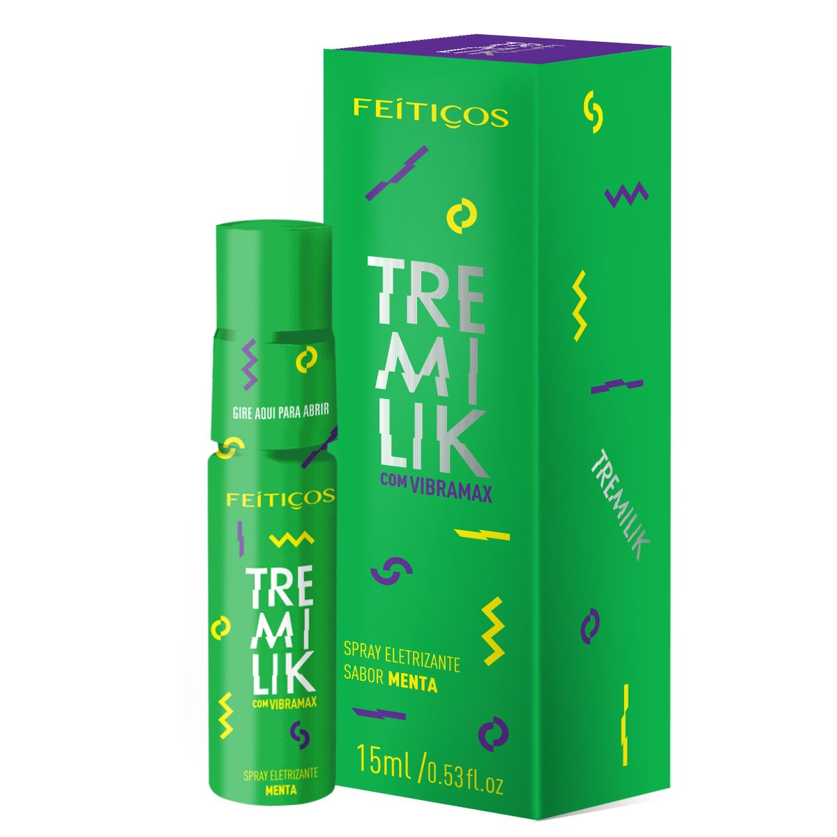 Spray eletrizante Tremilik com Vibramax Menta - 15 ml