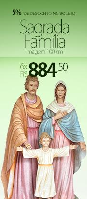 Imagem Sagrada Fam�lia Fibra 100cm