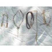 Traia tran�ada de couro cru com argolas paraguaia de alpaca e central - Selaria Zamboim