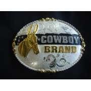 Fivela estampa Mula Cowboy Brand - Selaria Zamboim