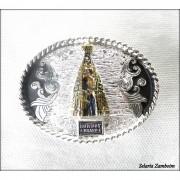 Fivela infantil Nossa Senhora - Selaria Zamboim