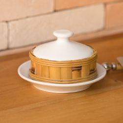 Mantegueira em Porcelana Branca e Bambu Natural