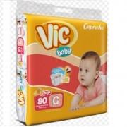 FRALDA INFANTIL DESCARTAVEL VIC BABY G C/80