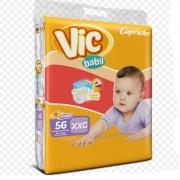 FRALDA INFANTIL DESCARTAVEL VIC BABY XXG C/56