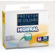 PROTETOR DESCARTAVEL DE COLCHAO HIGIFRAL M C/6