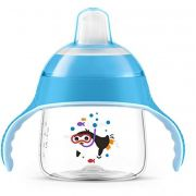 COPO C/BICO PHILIPS AVENT PINGUIM 200 ML AZUL